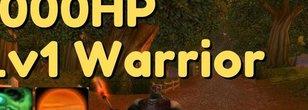 1K HP Level 1 Fully World Buffed Warrior PvPs Vs. Multiple level 10+ At Once