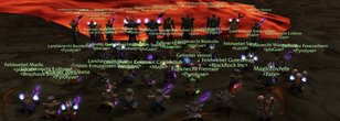 World First Molten Core Cleared by 40 Mages