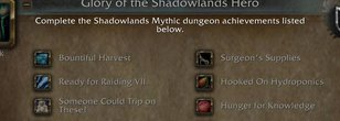 Glory of the Shadowlands Hero Has Already Been Completed