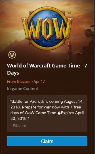 Claim 7 Days Of Free Game Time Until April 30 News Icy Veins Forums