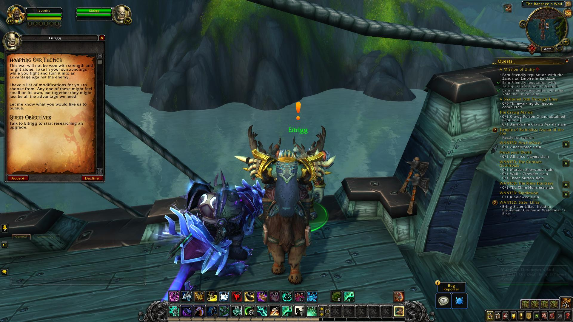 Research Advancement in Battle for Azeroth - News - Icy