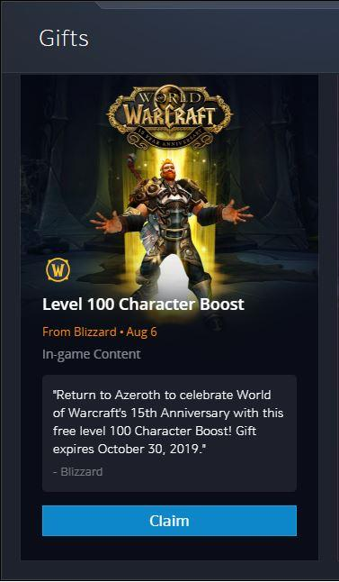 Blizzard Sending Out Level 100 Boosts to Inactive Accounts - News