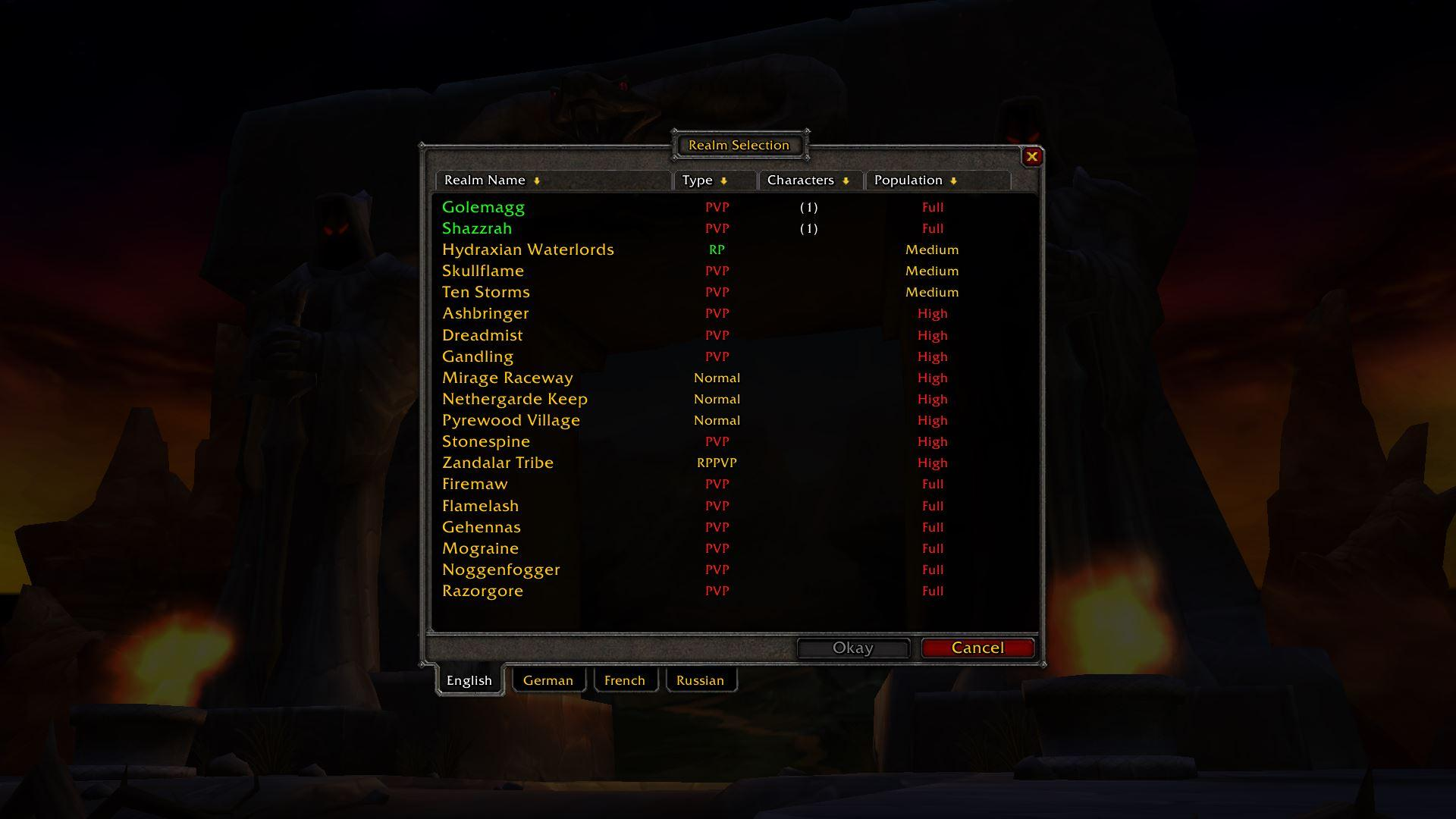 WoW Classic Realms Population Report: August 29th - News