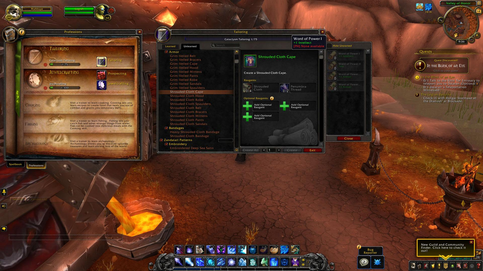 Optional Crafting Reagents In Shadowlands News Icy Veins
