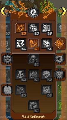 Fist of the Elements Skill Tree