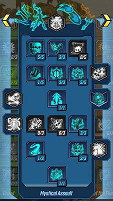 Mystical Assault Skill Tree