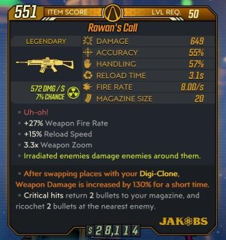 Example Level 50 Stats