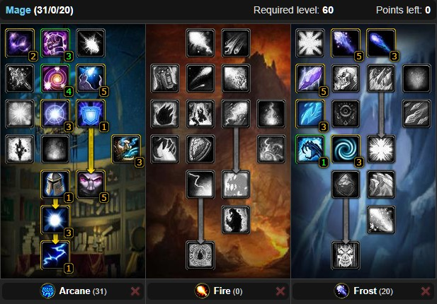 Classic Mage Dps Spec Builds And Talents Wow Classic Icy Veins