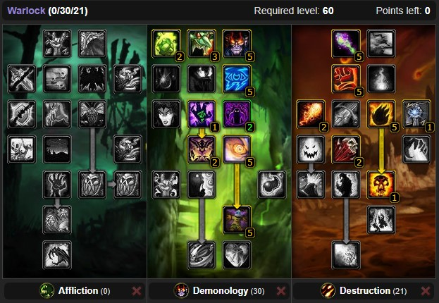 Classic Warlock Dps Spec Builds And Talents Wow Classic Icy Veins