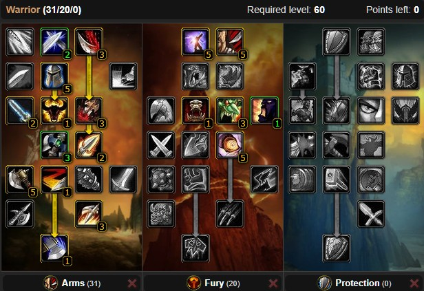 Warrior PvP Talent Build
