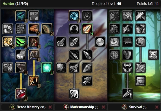 Wow Classic Beast Mastery Hunter Leveling Guide 1 60 Wow Classic Icy Veins