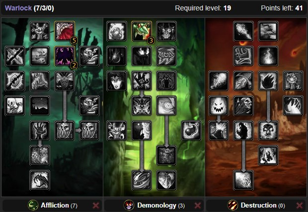 Wow Classic Demonology Warlock Leveling Talent Build From 1 To 60 Wow Classic Icy Veins