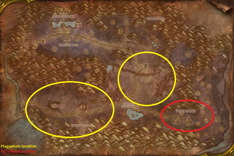 Eastern Plaguelands Warrior Farming Spots