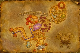 Orgrimmar path to Ragefire Chasm for Alliance players