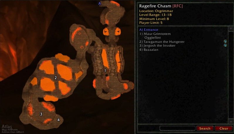 Map Layout of Ragefire Chasm
