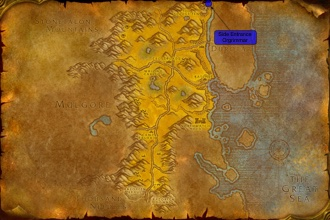 Side Entrance to Ogrimmar from The Barrens for Alliance players