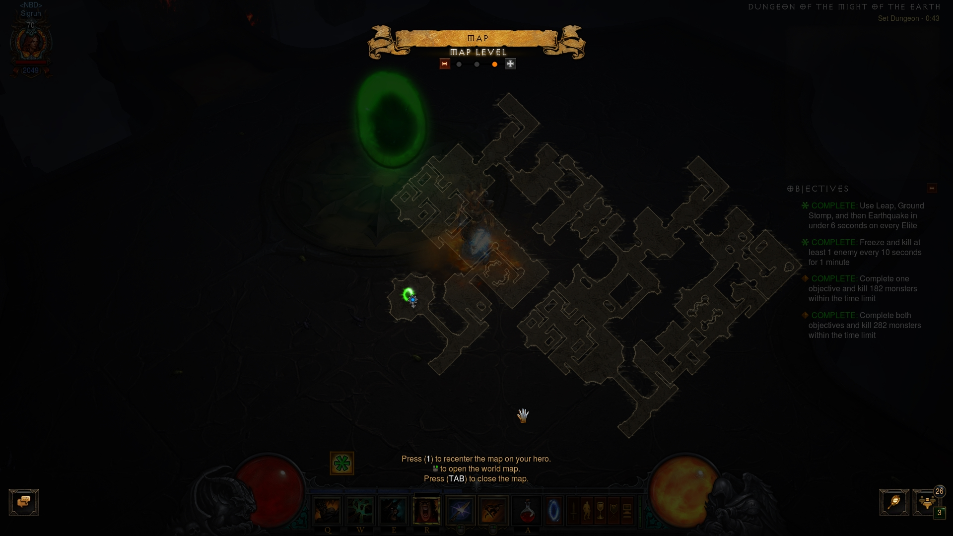 Layout of MotE set dungeon