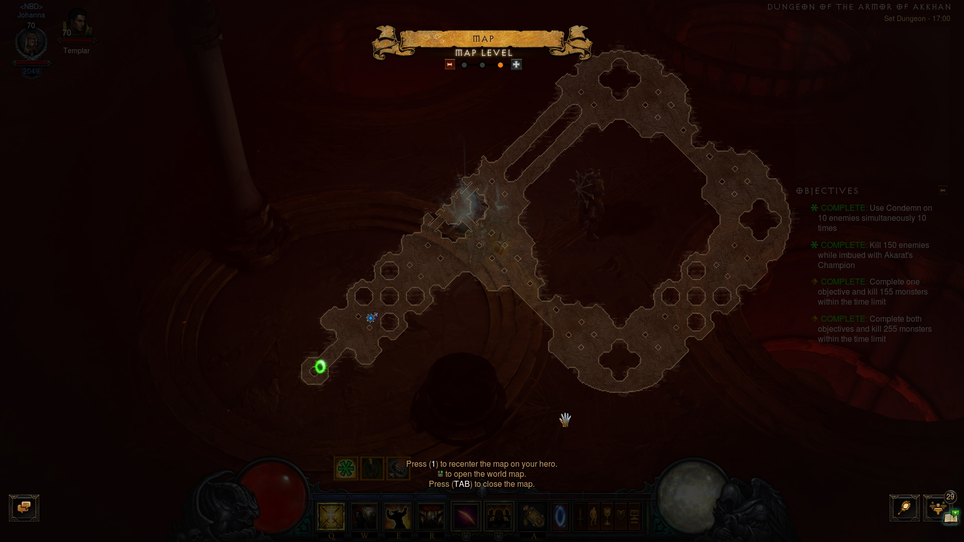 Location of Akkhan set dungeon