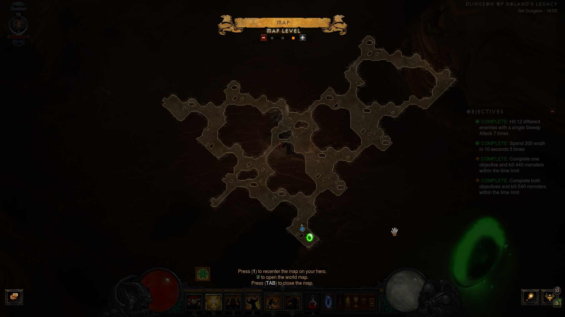 Location of Rolands set dungeon