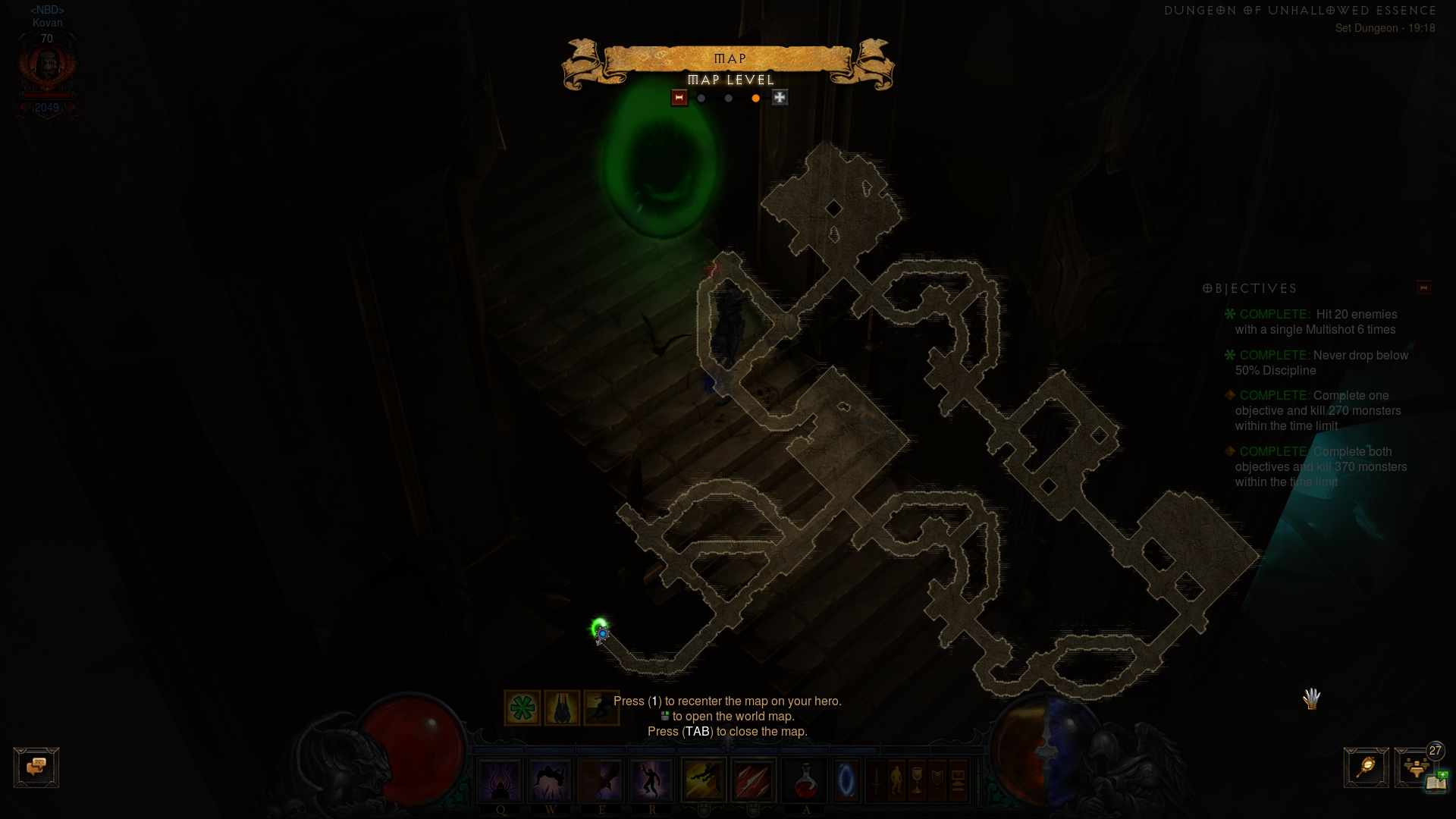 Layout of Unhallowed Essence set dungeon