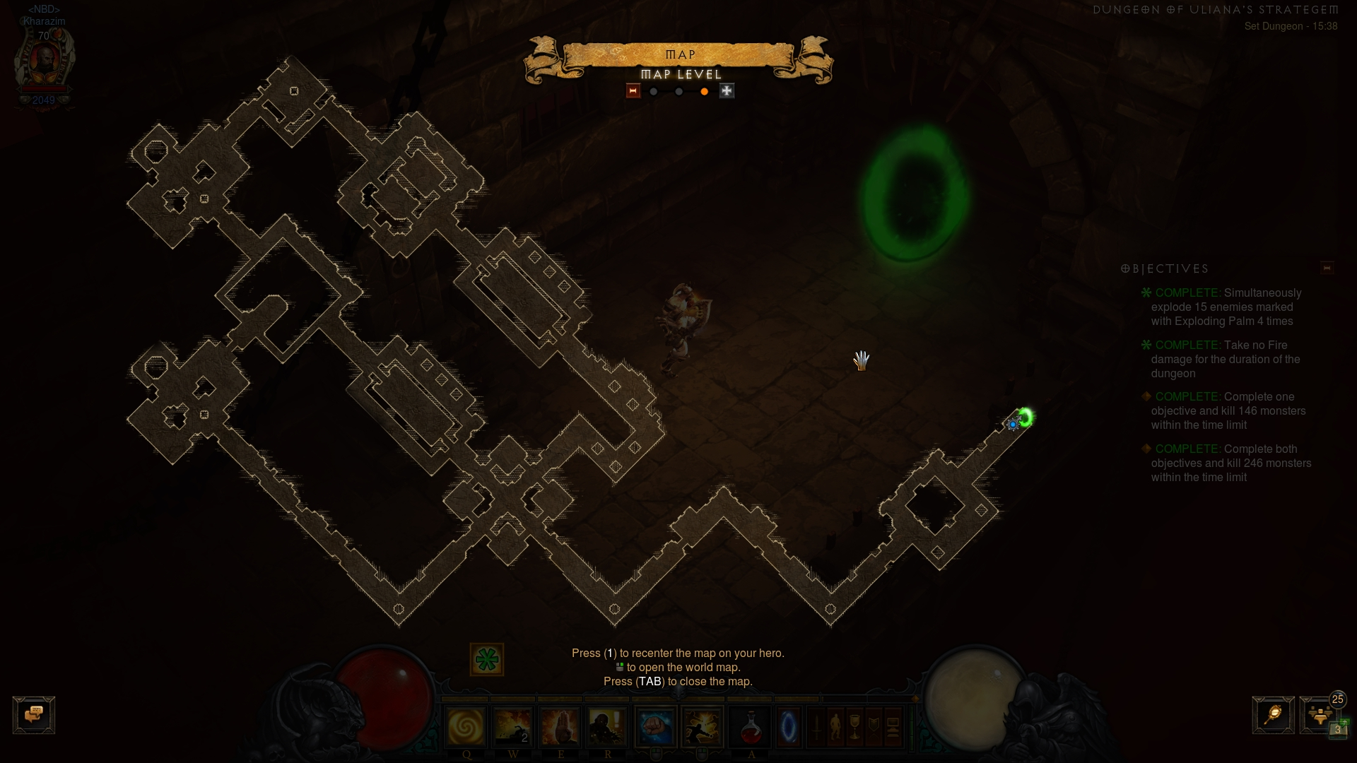 Layout of Uliana set dungeon
