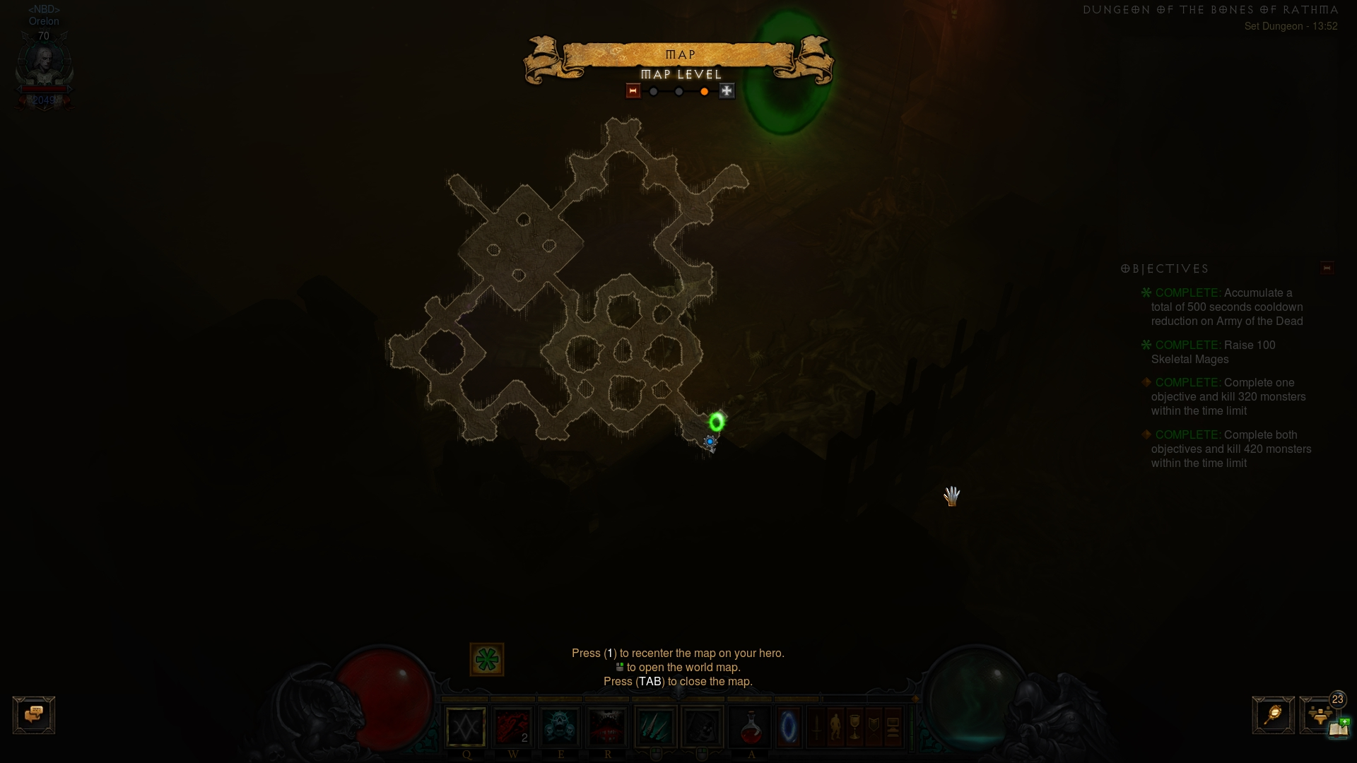 Layout of Rathma Set Dungeon