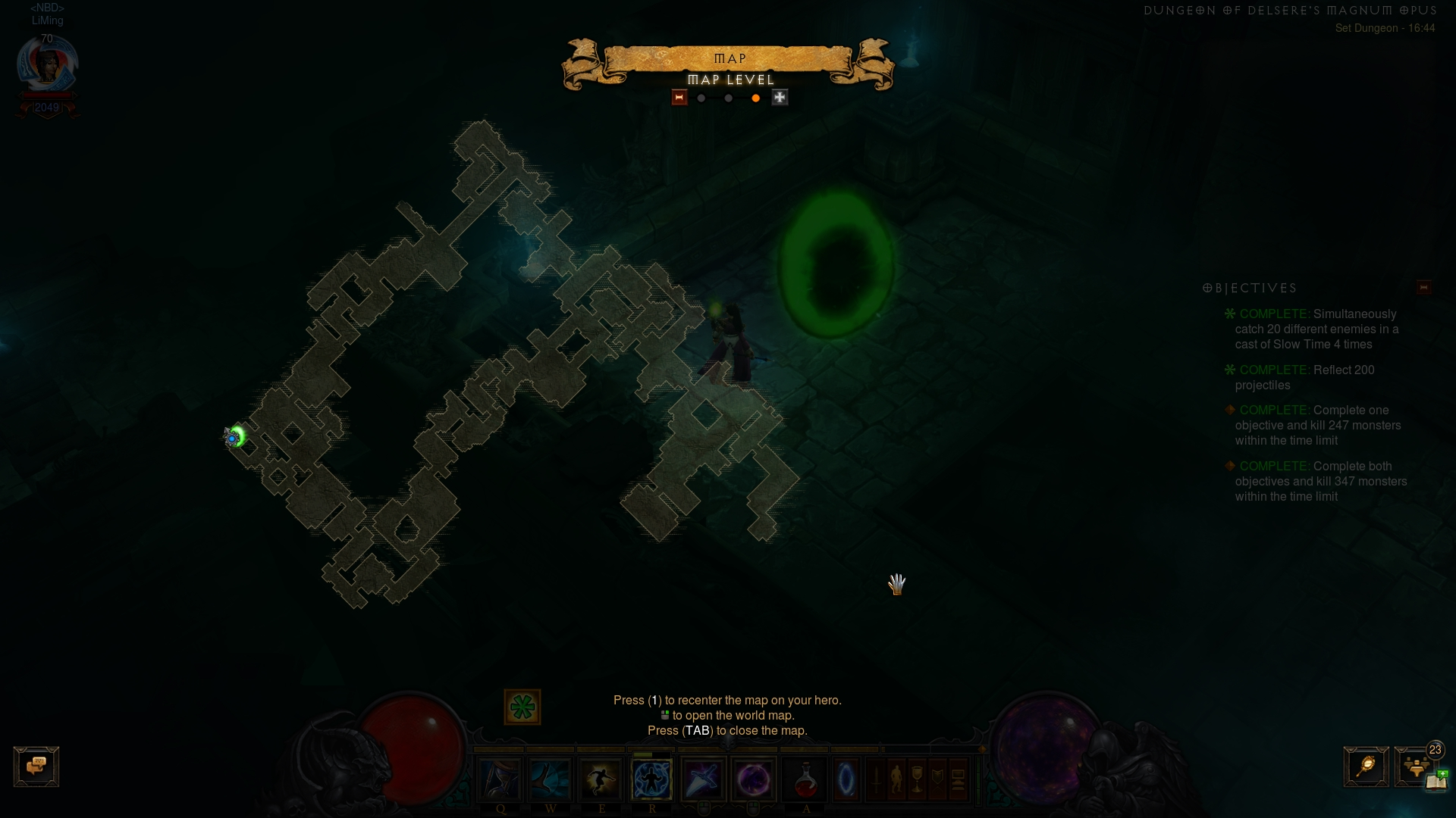 Layout of DMO Set Dungeon