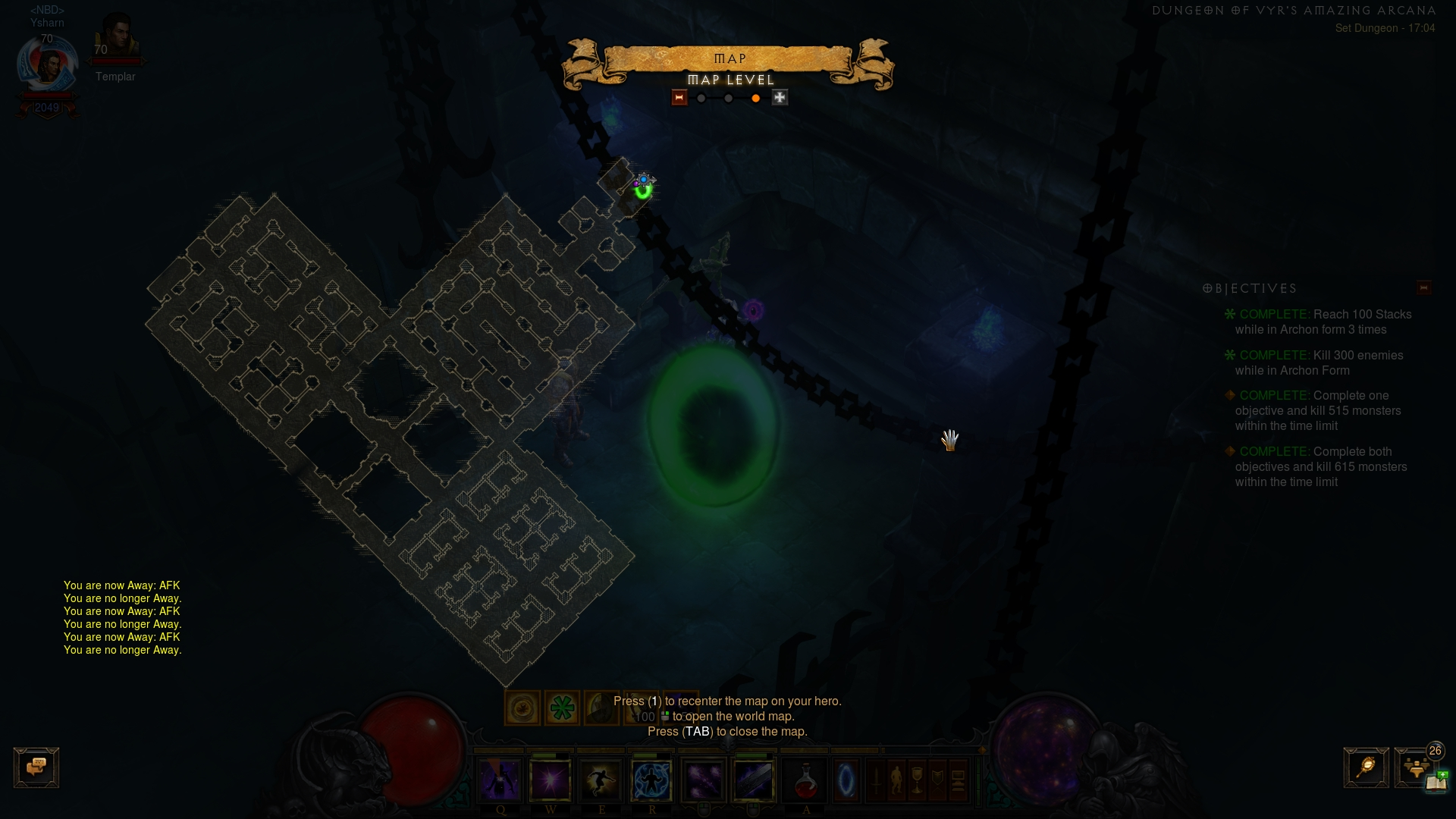 Layout of Vyr Set Dungeon