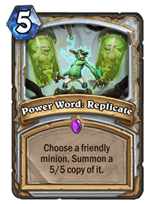 Power Word: Replicate Image - Boomsday Expansion
