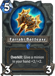 Farraki Battleaxe - Rastakhan's Rumble
