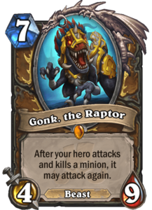 Gonk, the Raptor - Rastakhan's Rumble