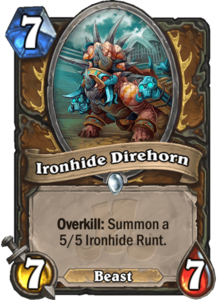 Ironhide Direhorn - Rastakhan's Rumble