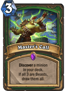 Master's Call - Rastakhan's Rumble