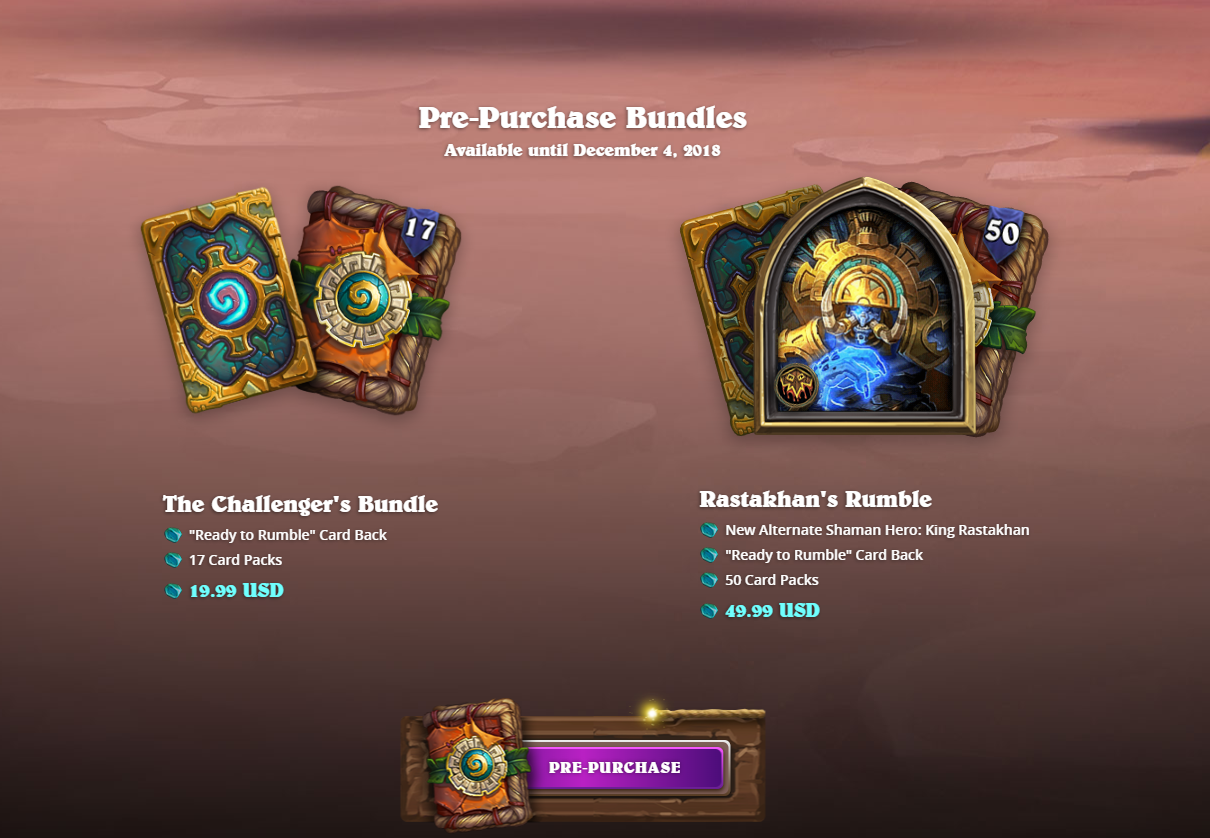 Pre-Purchase Rewards - Rastakhan's Rumble