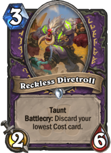 Reckless Diretroll - Rastakhan's Rumble