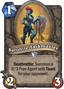 Saronite Taskmaster - Rastakhan's Rumble