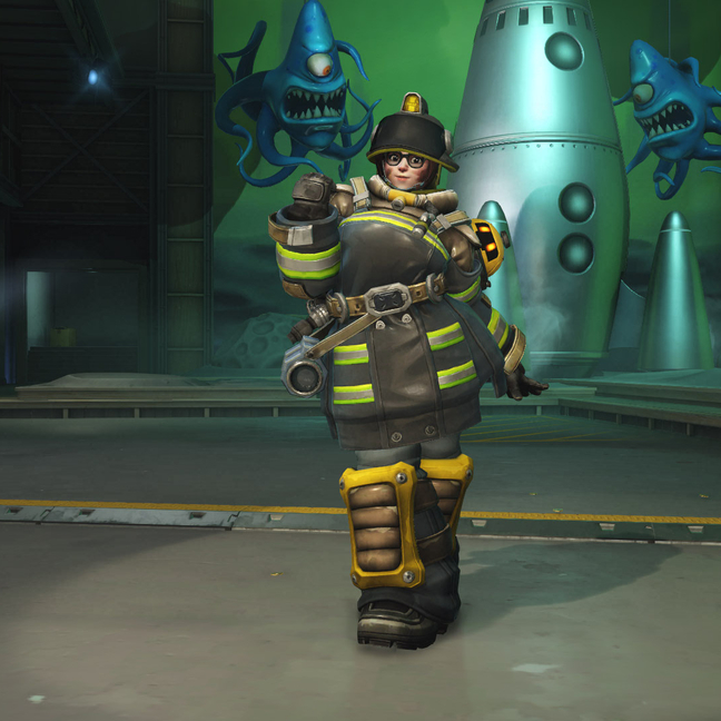 Mei Firefighter Skin