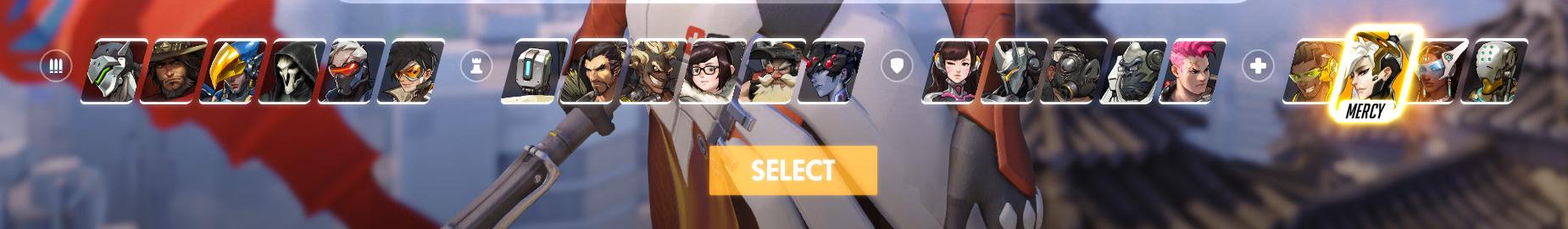 Overwatch Hero Selection