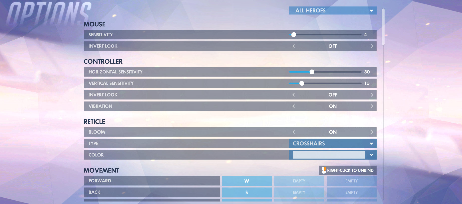 Overwatch Controls Options 1
