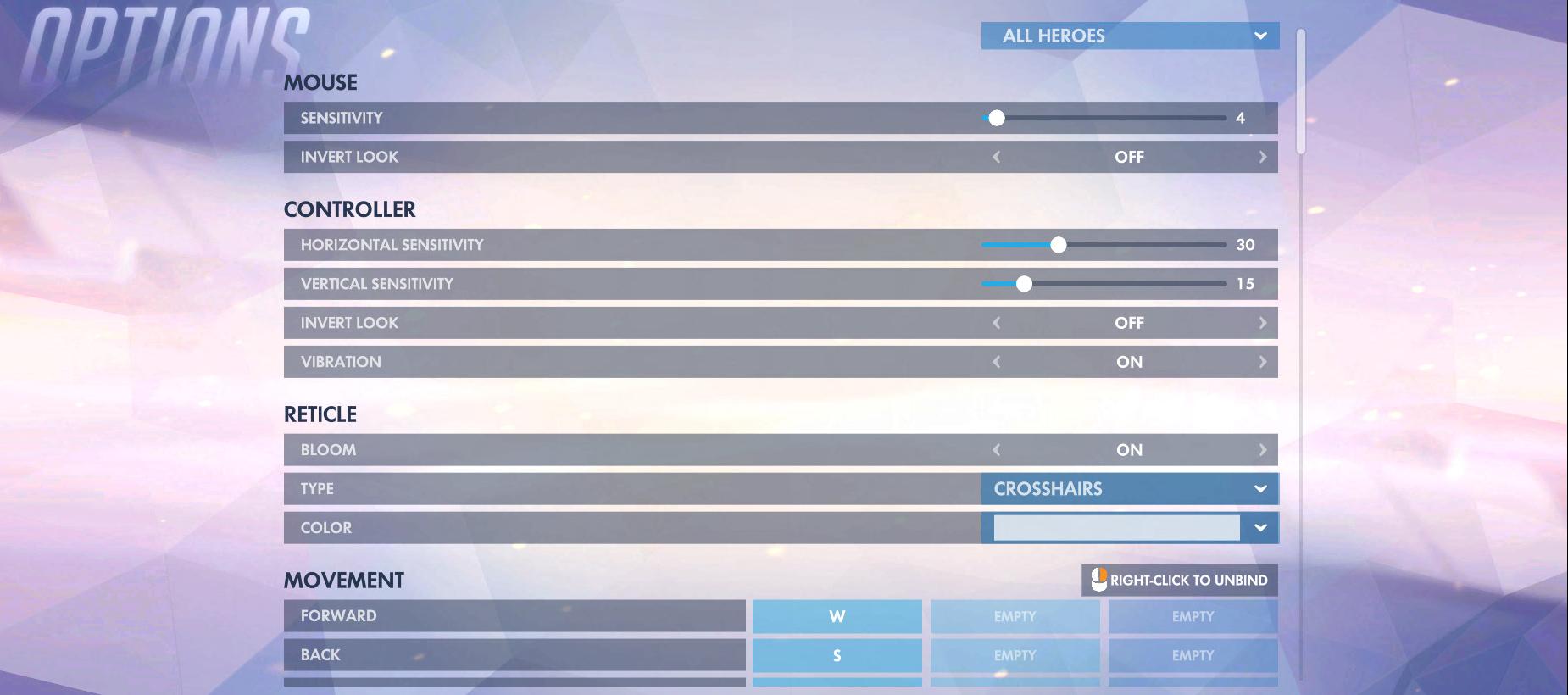 Overwatch Controls Options 1