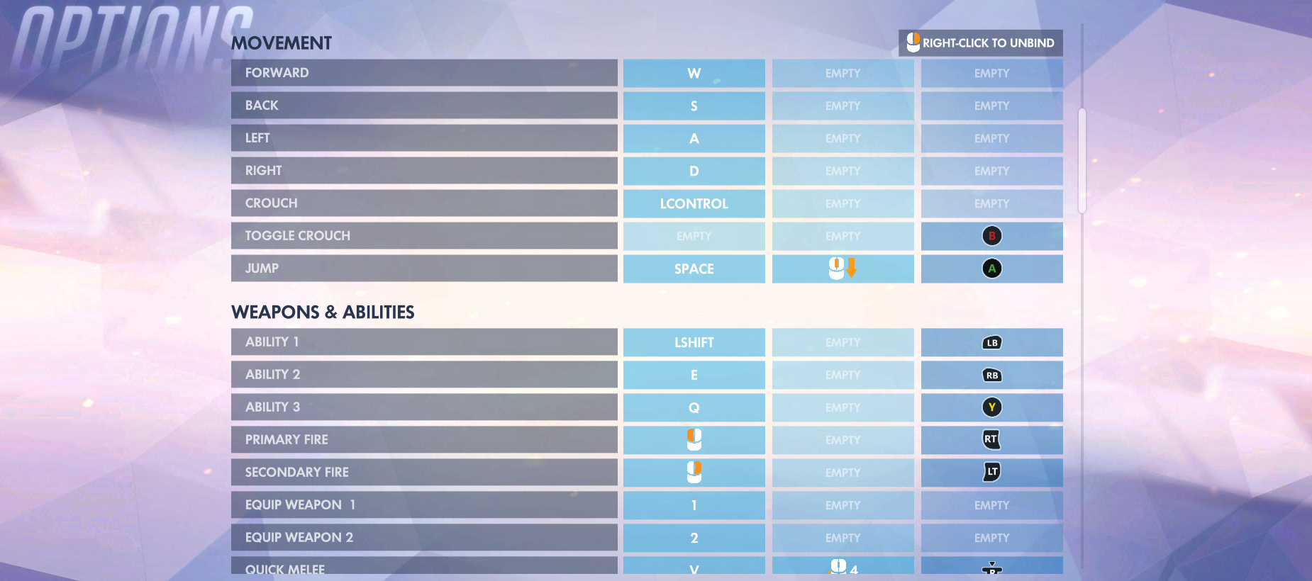 Overwatch Control Options 2