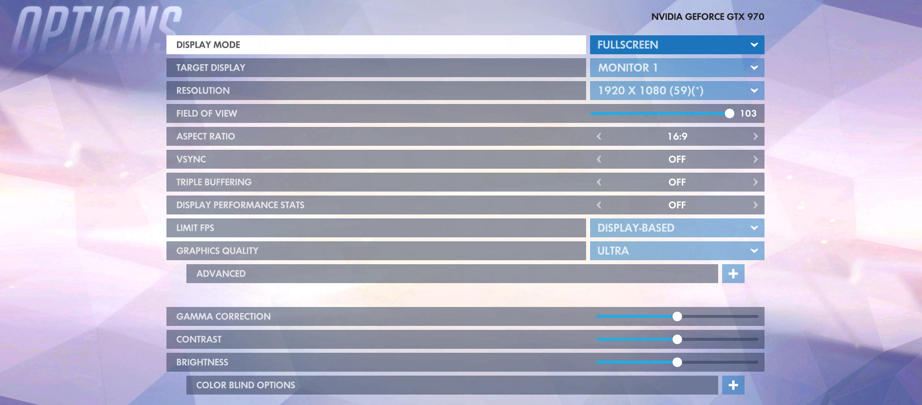 Overwatch Video Options