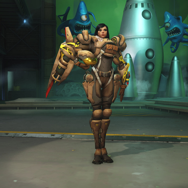 Pharah Security Chief Skin