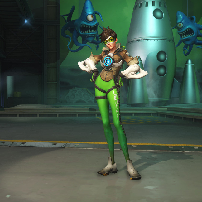 Tracer Neon Green Skin