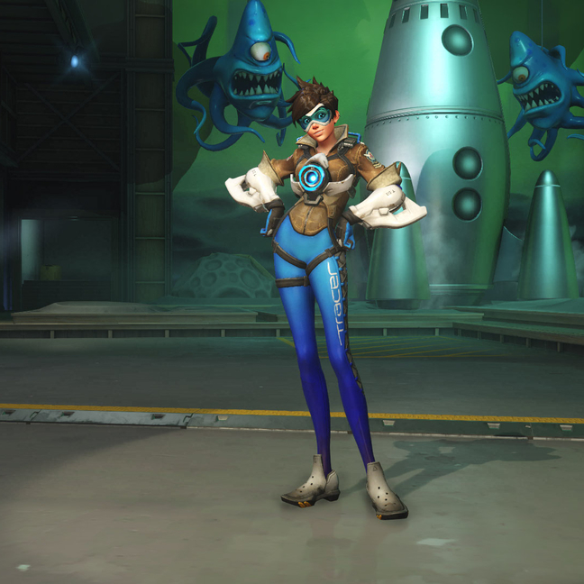 Tracer Royal Blue Skin
