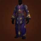 Sanguine Silk Robes, Ermine Coronation Robes, Sanctified Crimson Acolyte Robe, Sanctified Crimson Acolyte Raiments Model
