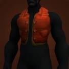 Red Linen Vest Model