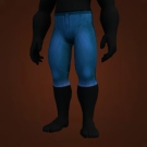 Azure Silk Pants Model