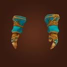 Replica Knight-Lieutenant's Satin Gloves, Replica Knight-Lieutenant's Satin Handwraps Model