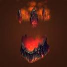 Erupting Volcanic Headpiece Model